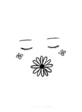 face flower drawing