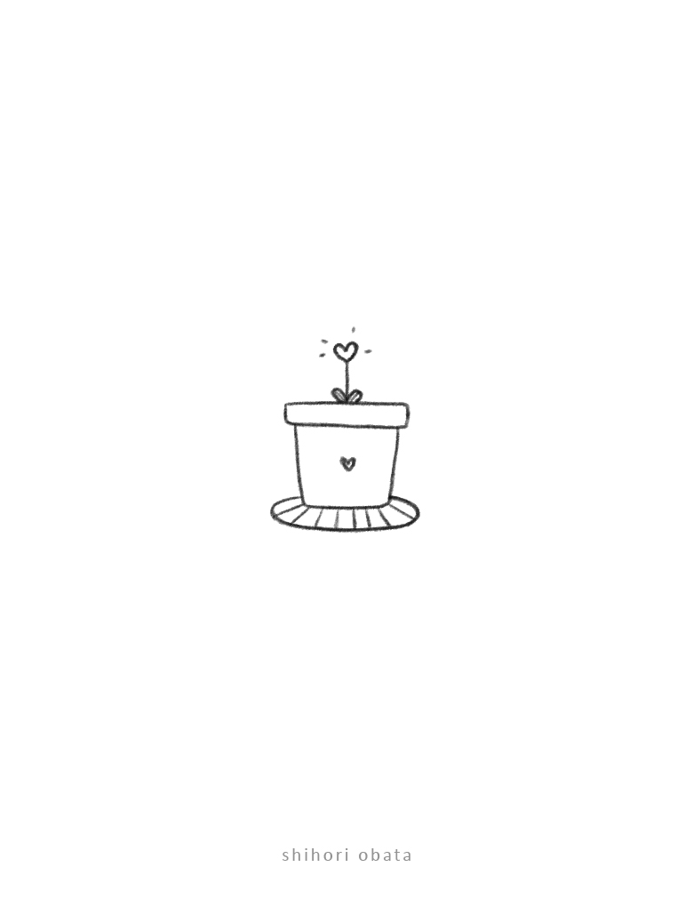 plant pot drawing easy