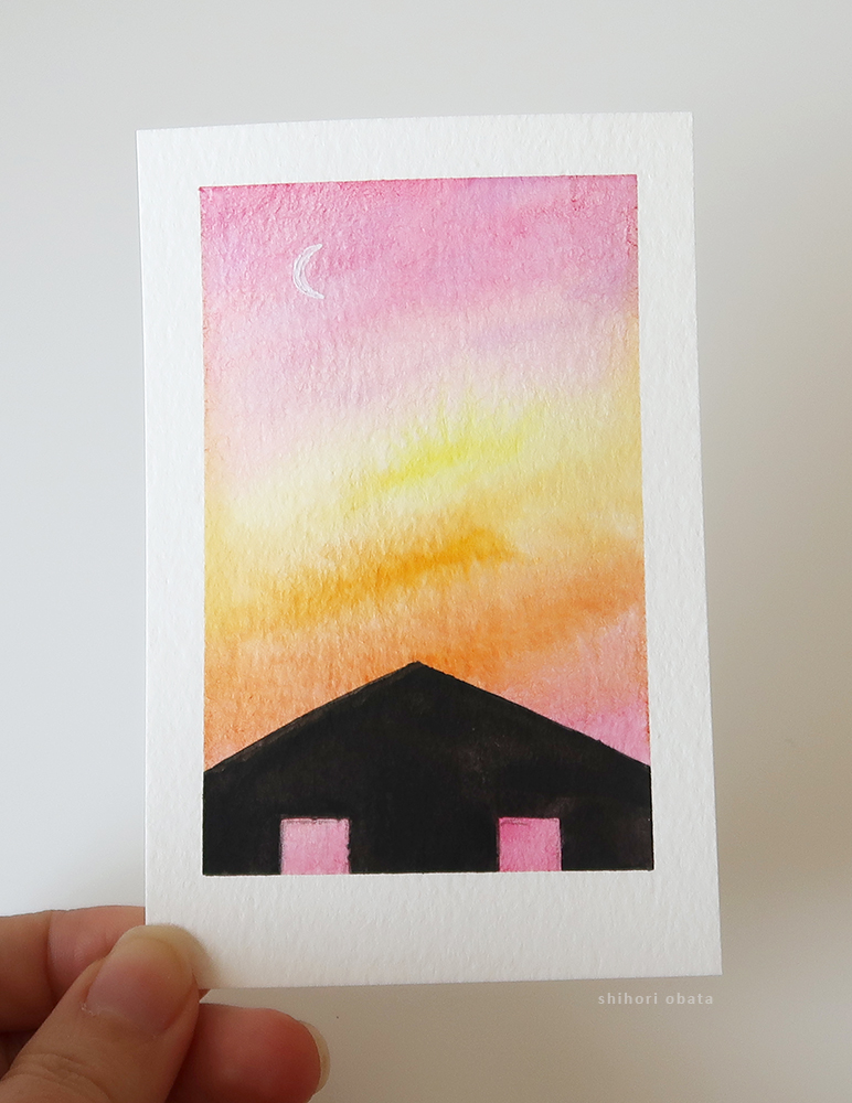 house watercolor painting