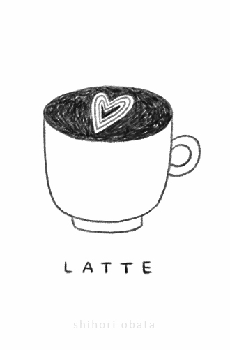 latte coffee drawing easy