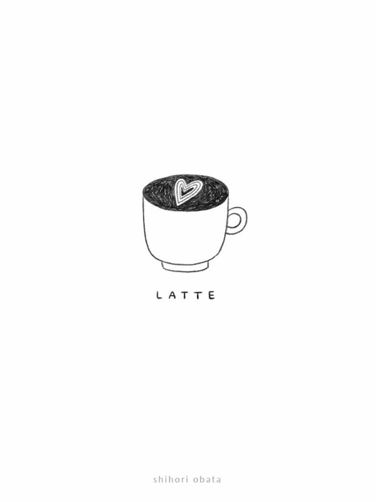 coffee latte drawing idea