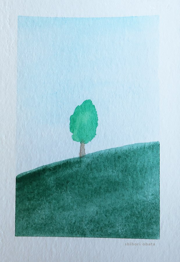 tree easy watercolor art