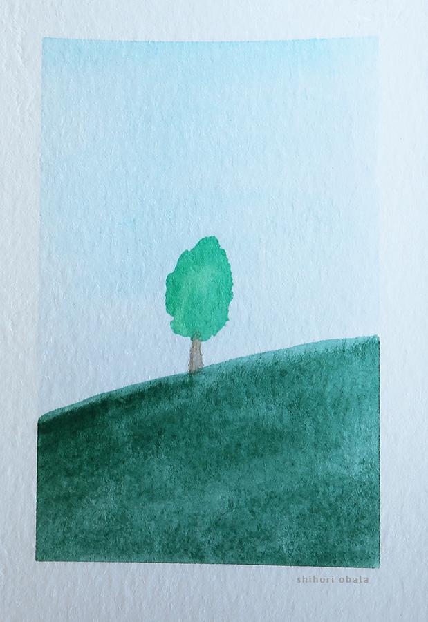 tree easy watercolor art