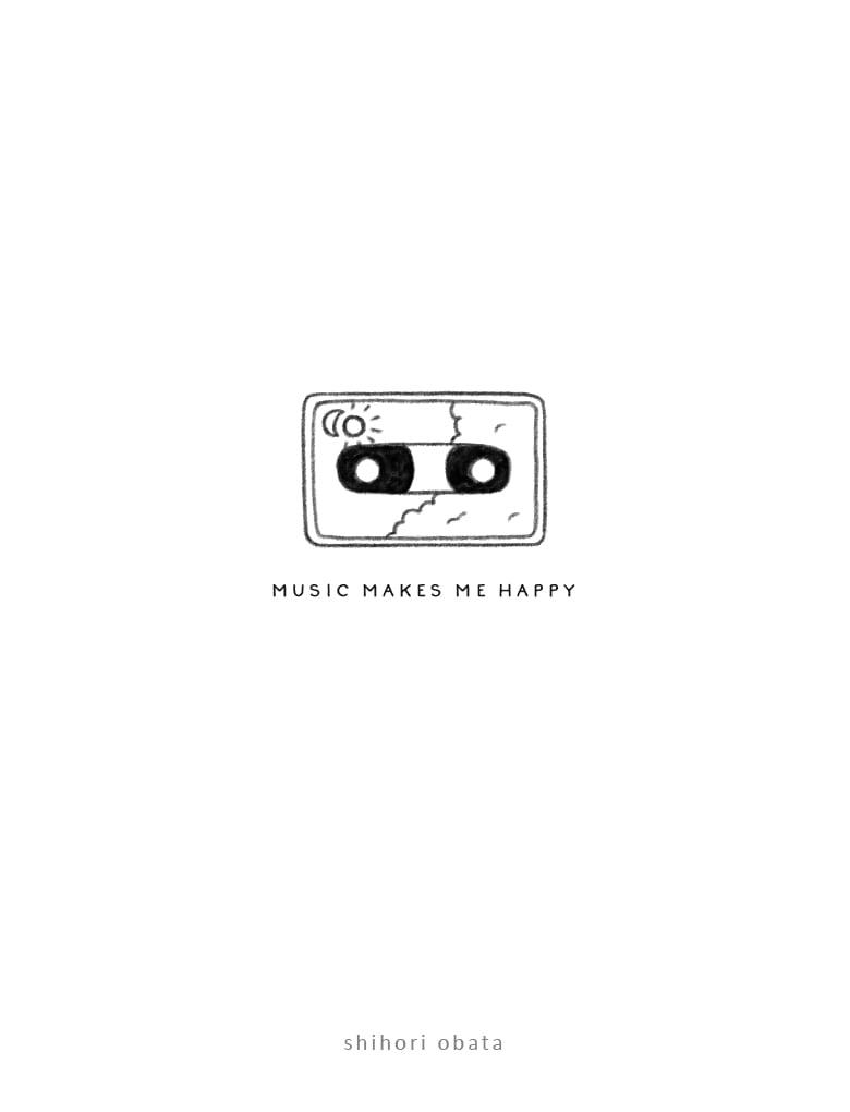 cassette tape drawing easy