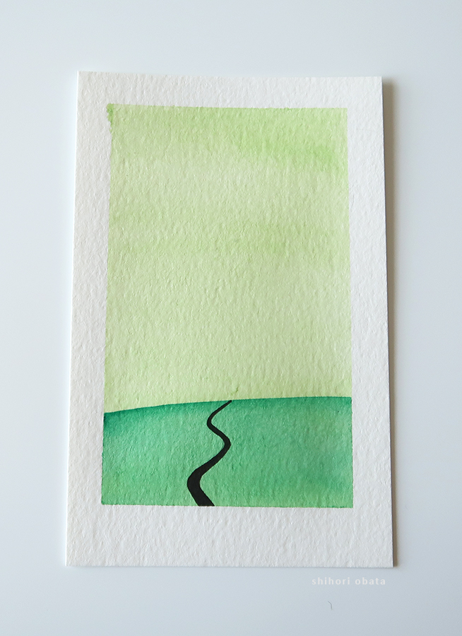 path watercolor painting