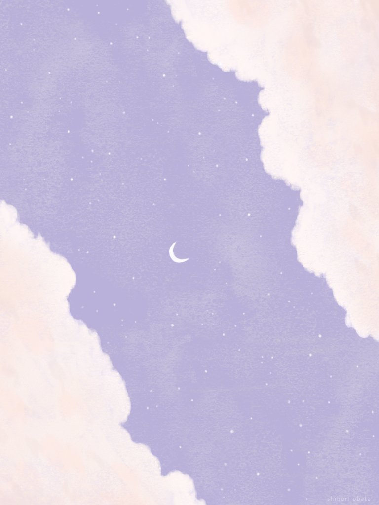 purple sky drawing illustration painting