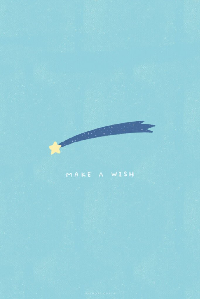 make a wish shooting star drawing