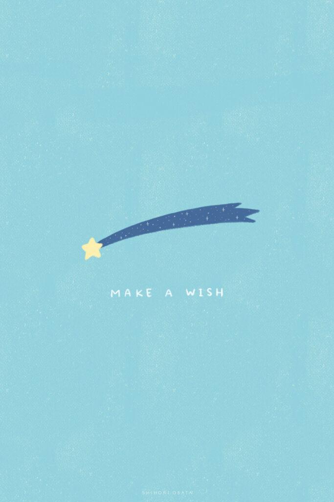 make a wish shooting star drawing