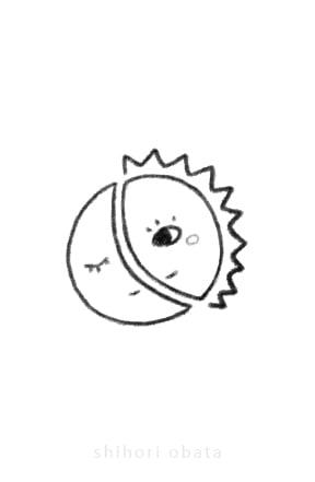 sun moon drawing