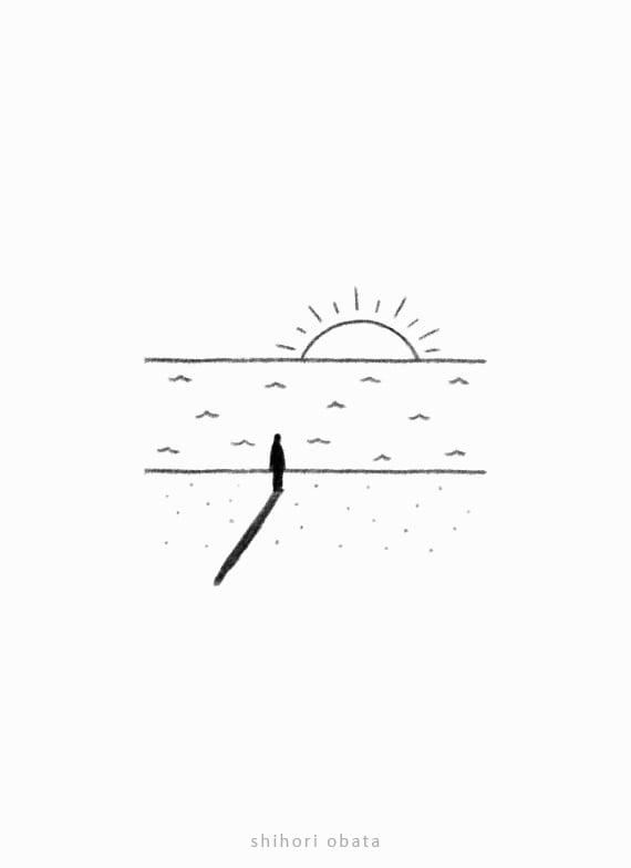 sunrise drawing easy