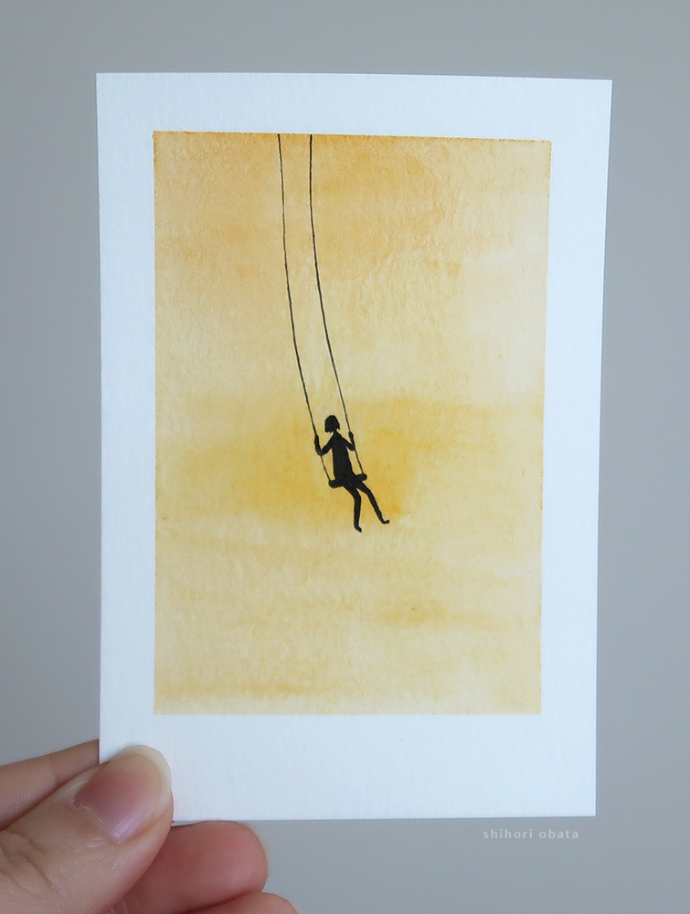 swing watercolor painting