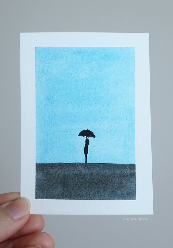umbrella watercolor art easy