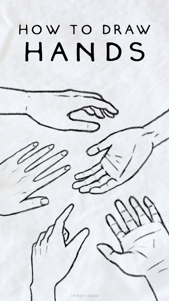 how to draw hands tutorial easy