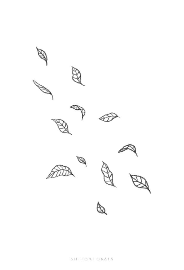 falling leaves drawing