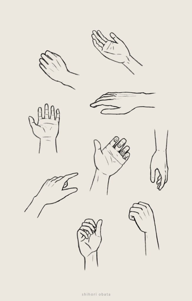 how to draw hands anime easy