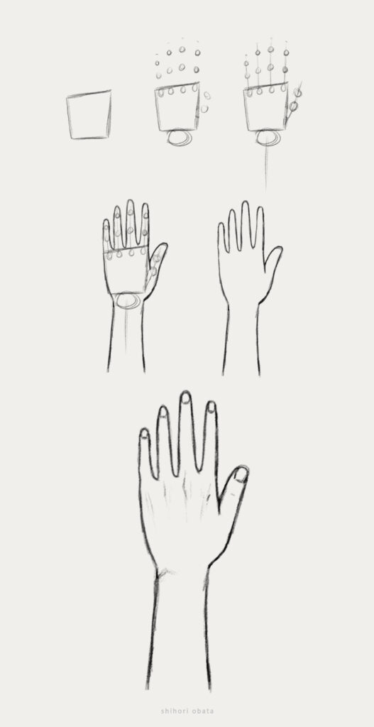 how to draw hands easy