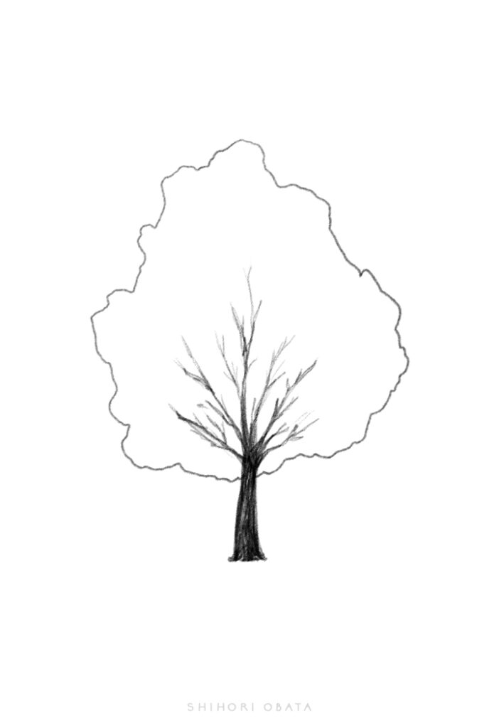 tree drawing simple easy