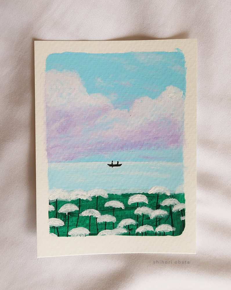 boat easy acrylic painting flowers