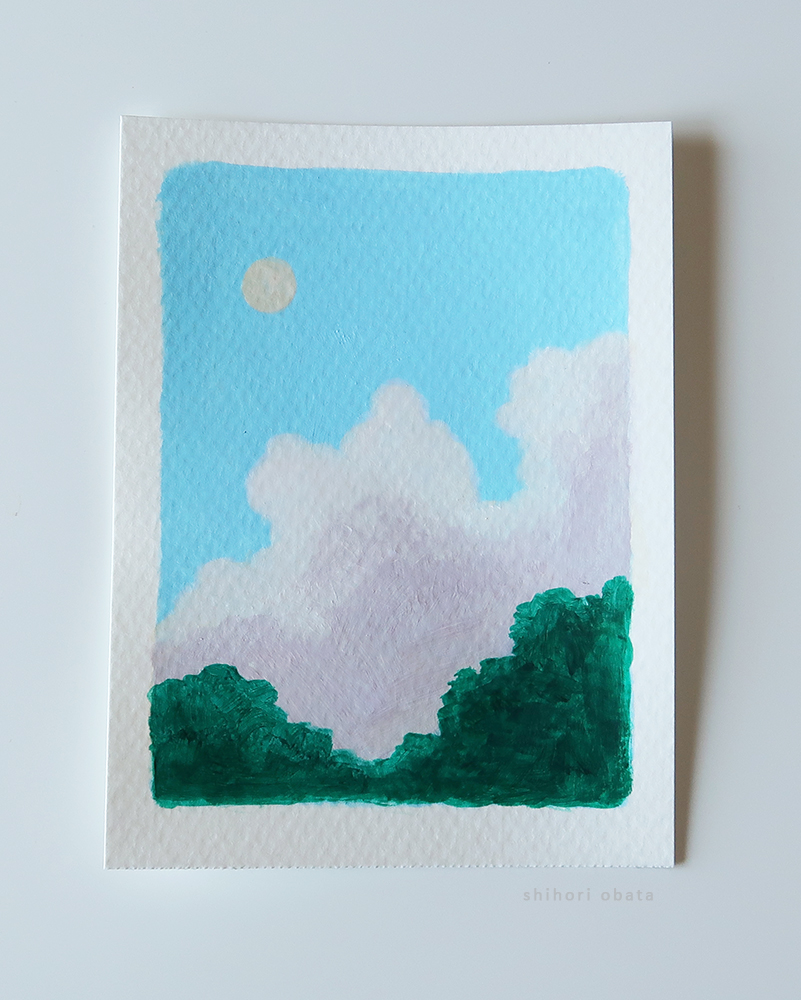 easy acrylic painting idea clouds