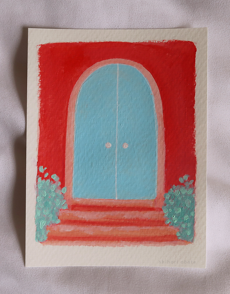 doors easy acrylic painting