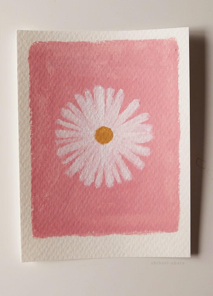daisy painting easy acrylic