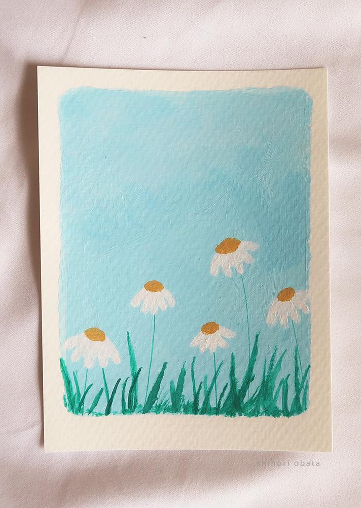 daisy flowers easy acrylic painting