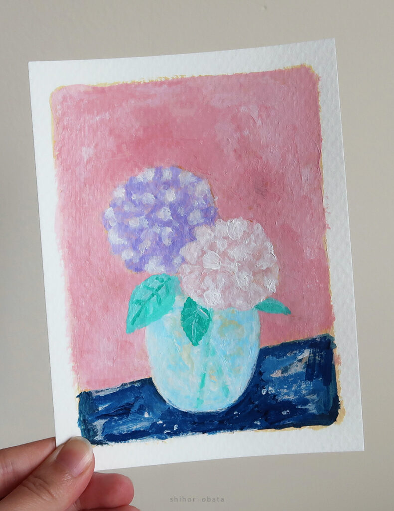 flower easy acrylic painting