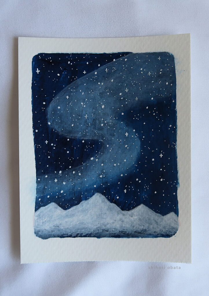 night sky painting acrylic