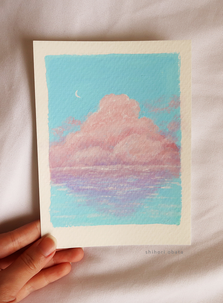 easy cloud acrylic painting
