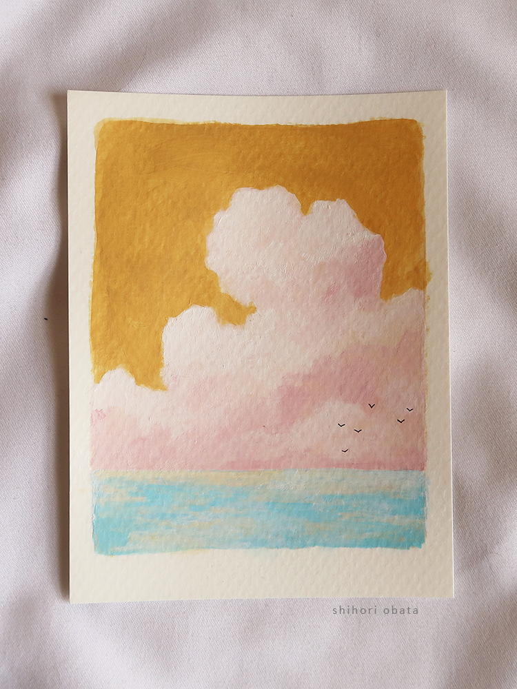 how to paint clouds easy