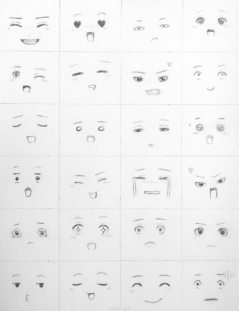 facial expressions anime cartoon