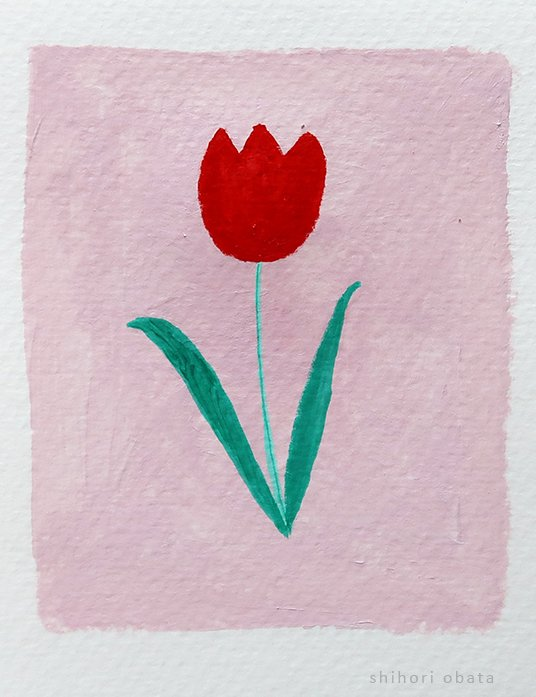 tulip flower painting easy