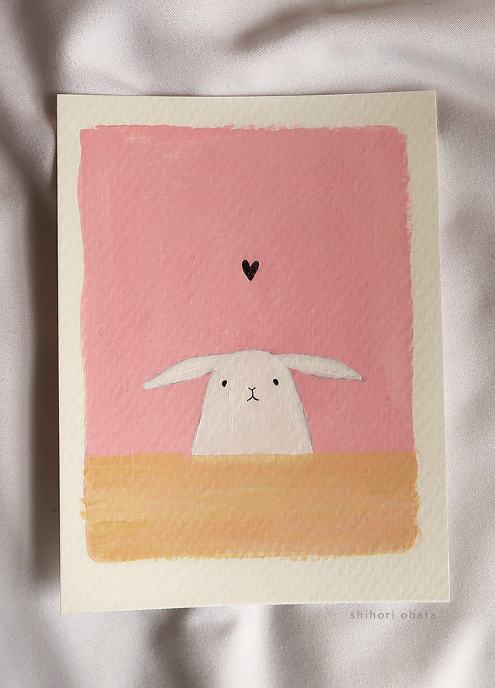 rabbit painting easy