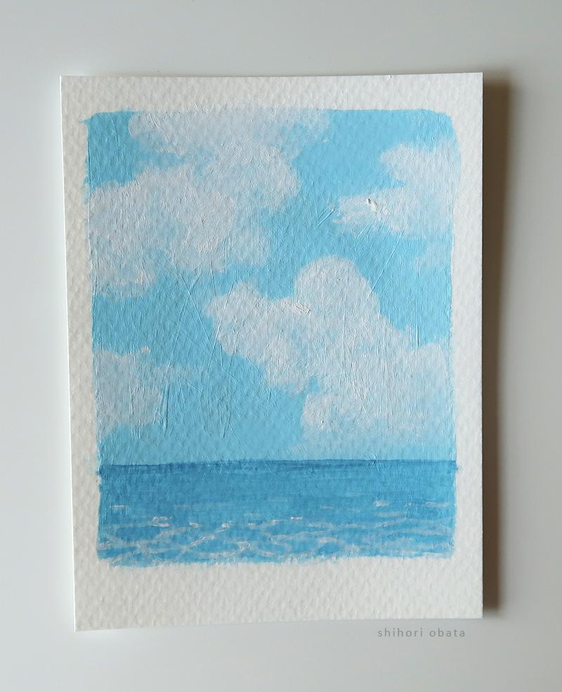 simple ocean painting easy