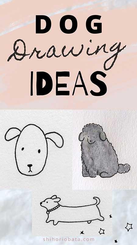 dog drawing ideas easy