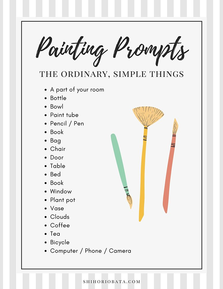 ordinary things to paint prompt