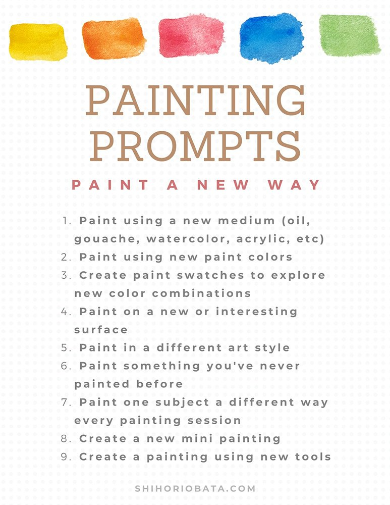 painting a different way prompt