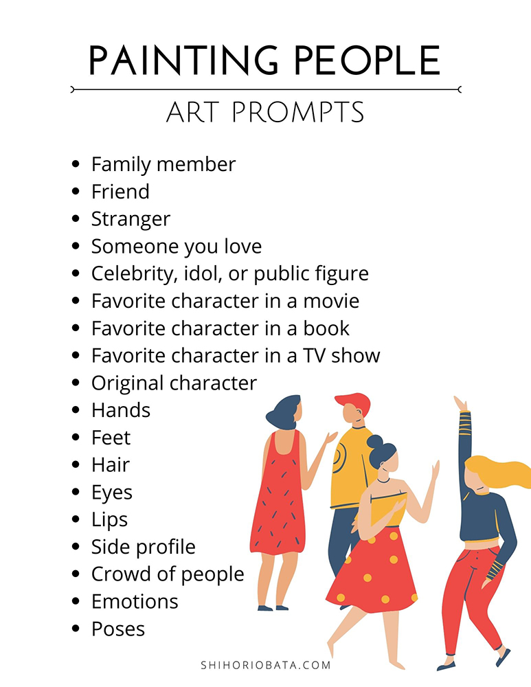 painting prompts for people