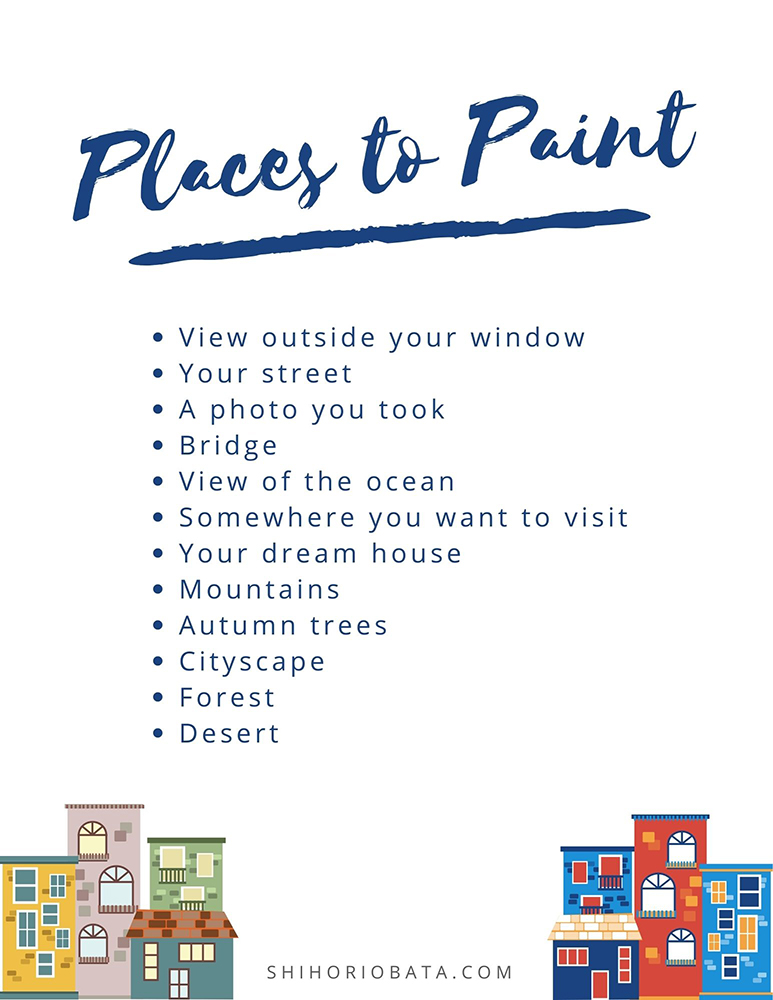 painting places prompt