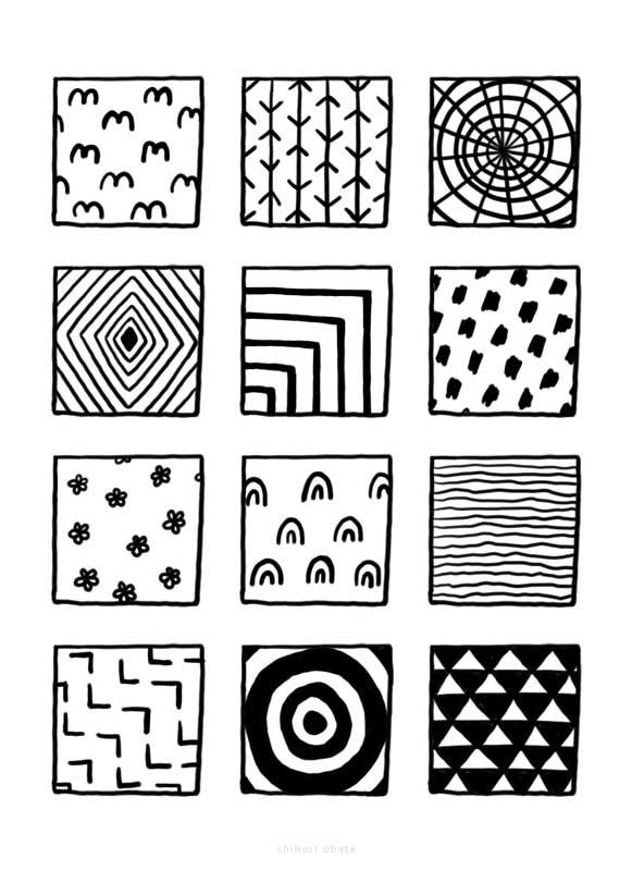 patterns zentangle ideas drawing