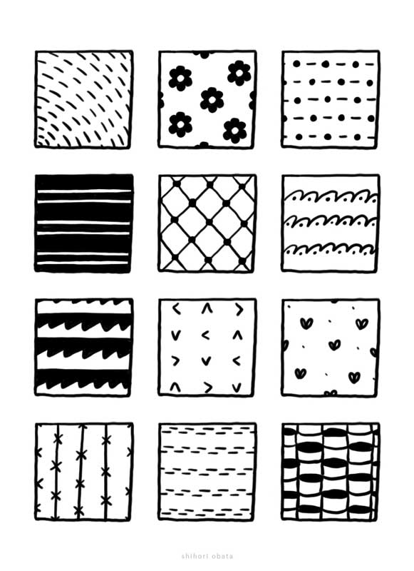 patterns easy to draw textures