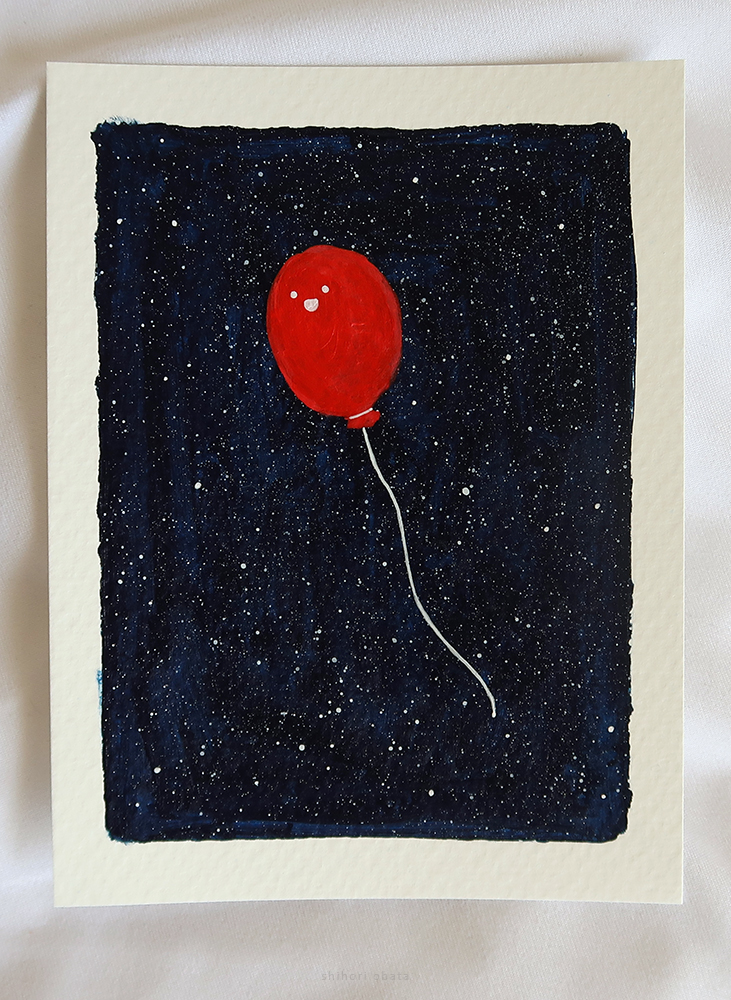 space balloon painting easy