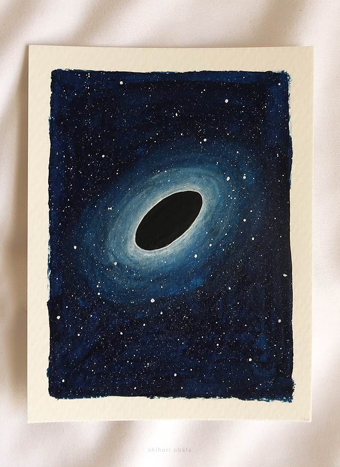 black hole outer space painting