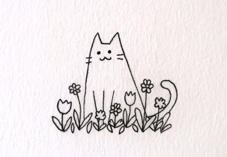 easy cat drawing ideas