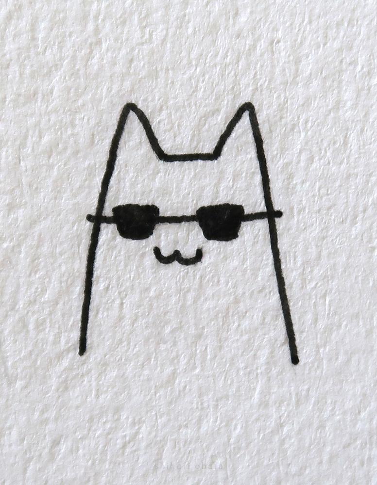 cat drawing sunglasses