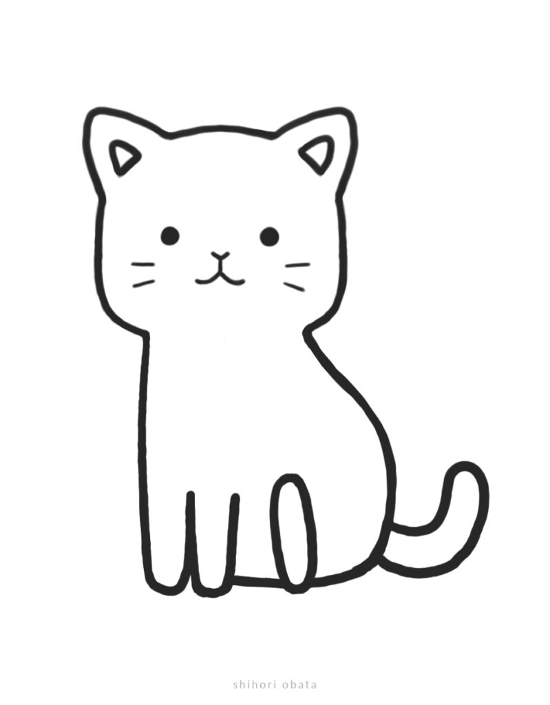 chibi cat drawing kawaii