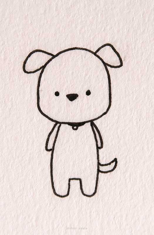 Chibi dog drawing