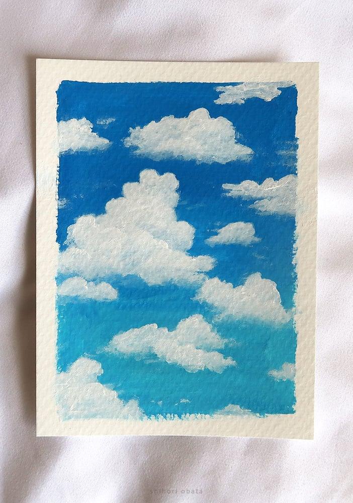 cloud painting idea easy