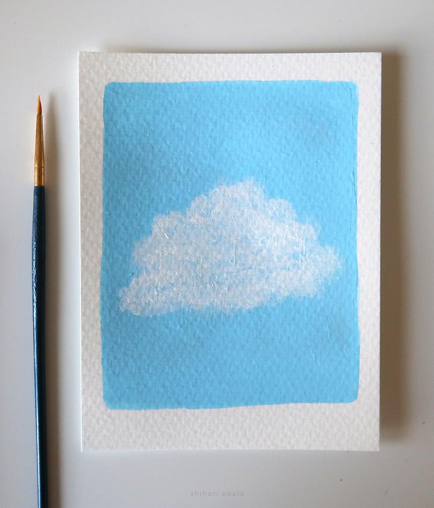 cloud painting step