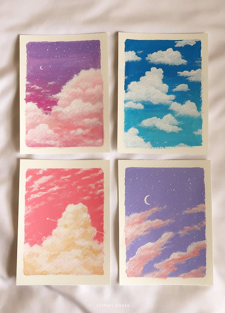 easy cloud painting ideas
